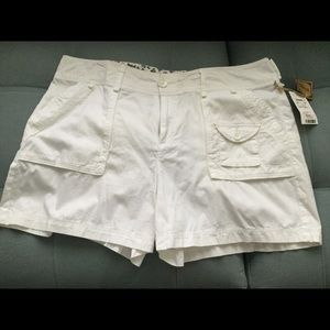 Pants - Shorts - White cotton - Size 14